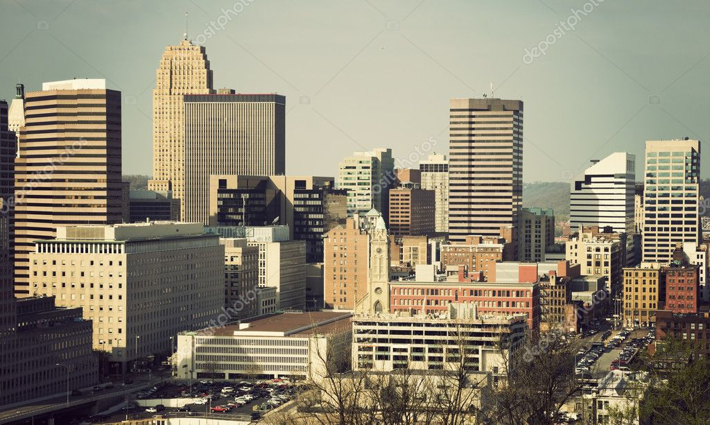 Architecture of Cincinnati, Ohio. Summer time  Stock Photo #5783141