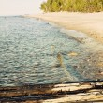 återstår av fartyget - au sable fyr område — Stockfoto