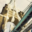 Historic bridge in Cincinnati - Stok fotoğraf
