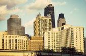 Por la tarde en chicago — Foto de Stock