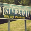 Welcome to West Virginia — Stock Photo