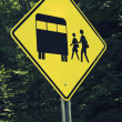 Boarding school bus — Stock Photo