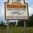 Welcome to Maryland — Stock Photo