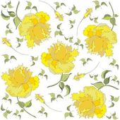 Seamless background from a flowers ornament, fashionable modern wallpaper o — Stok Vektör