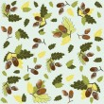 Autumn seamless background. Illustration acorns. — Stock Vector