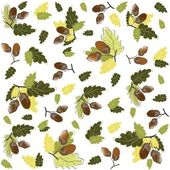 Autumn seamless background. Illustration acorns. — Vettoriale Stock