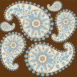 Seamless background from a paisley ornament, fashionable modern wallpaper o — Stock Vector