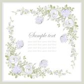 Rose tebrik kartı. çiçekli güzel dekoratif çerçeve. — Stok Vektör