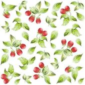 Seamless background from a berry ornament, fashionable modern wal — Stok Vektör