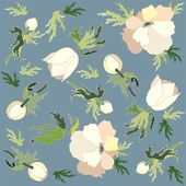 Seamless background.Illustration anemones. — Stock Vector