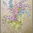 Vector de stock : Background from flower of lupine . Bouquet from lupine flower.