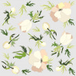 Seamless background from flowers ornament, fashionable modern wallpaper o — Stok Vektör #6075172
