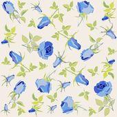 Plano de fundo sem emenda de um ornamento de flores, o papel de parede moderno na moda — Vetor de Stock