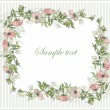 Decorative framework. Wild rose. — Cтоковый вектор