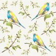 Seamless background. Illustration of birds. — Stok Vektör #6263073