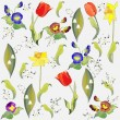 Seamless background from flowers ornament, fashionable modern wallpaper o — Stok Vektör #6350368