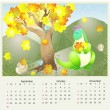 Vector calendar 2012 autumn — Stock Vector #6558804