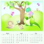 Vector calendar 2012 spring — Stock Vector #6558833