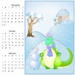 Vector calendar 2012 winter. — Stock Vector #6558842