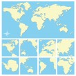 World map — Stock Vector