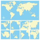 World map — Vector de stock