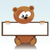 Een beer en een uithangbord — Stockvector