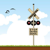 Railroad Crossing — Vetorial Stock