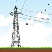 Electricity Pylon — Stock Vector