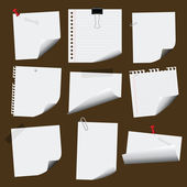 Note Papers — Stock Vector