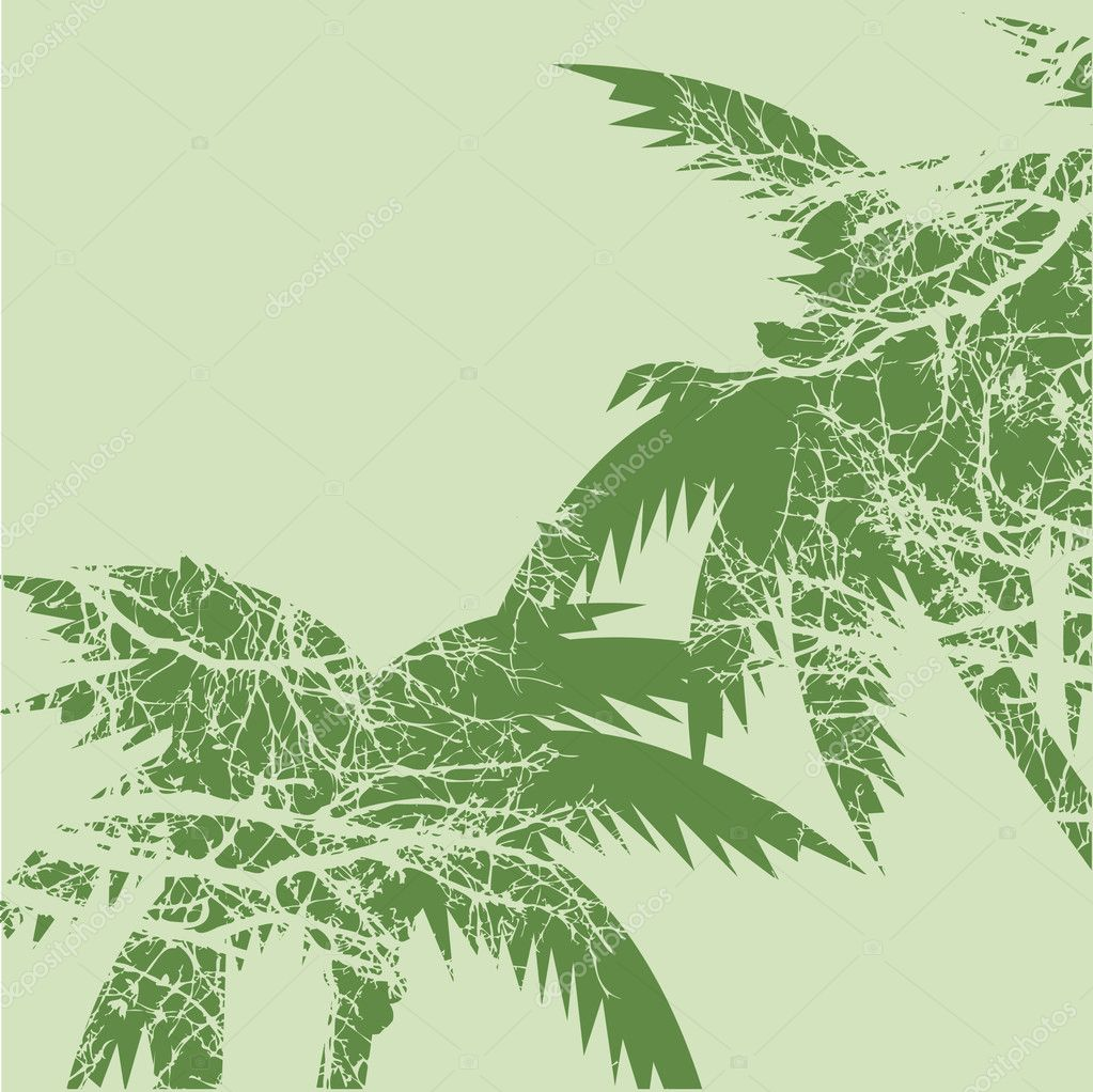 Vector illustration of grunge palm trees  Stock Vector #6680521