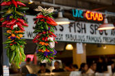 Spicy decorations at Pike Market Place — Stock Photo