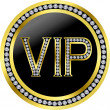 Vip with diamonds, vector — Image vectorielle