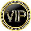 Vip with diamonds, vector - Image vectorielle
