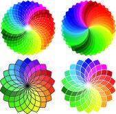 Colore circolare ruota modello set, vettoriale — Vettoriale Stock