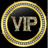 Vip with diamonds, vector — Stock Vector