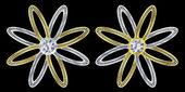 金、 银、 钻石、 矢量图 — 图库矢量图片