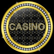 Casino icon, golden button with diamonds, vector illustration - Vektorgrafik