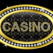 Casino icon golden with diamonds, vector illustration — Stock Vector