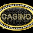 Casino icon golden with diamonds, vector illustration - Stockvektor