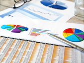 Investment charts. — Stock Photo
