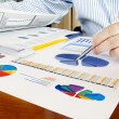 Analyzing investment charts. — Stock Photo #5815123