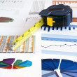 Tape on investment charts — Stock Photo