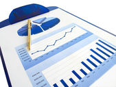 Pen and investment chart — Stock Photo