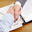 Business shaking hands. — Stock Photo