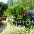 Стоковое фото: Pretty manicured flower garden