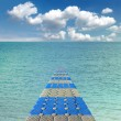 Pontoon bridge in the Red sea — 图库照片