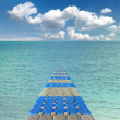 Pontoon bridge in the Red sea — ストック写真