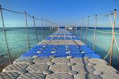 Pontoon bridge in the Red sea. — Stock Photo