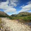 Stock Photo: Remote and isolated Glen in Scottish Highlands.