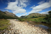 Remote and isolated Glen in the Scottish Highlands. — Stock Photo